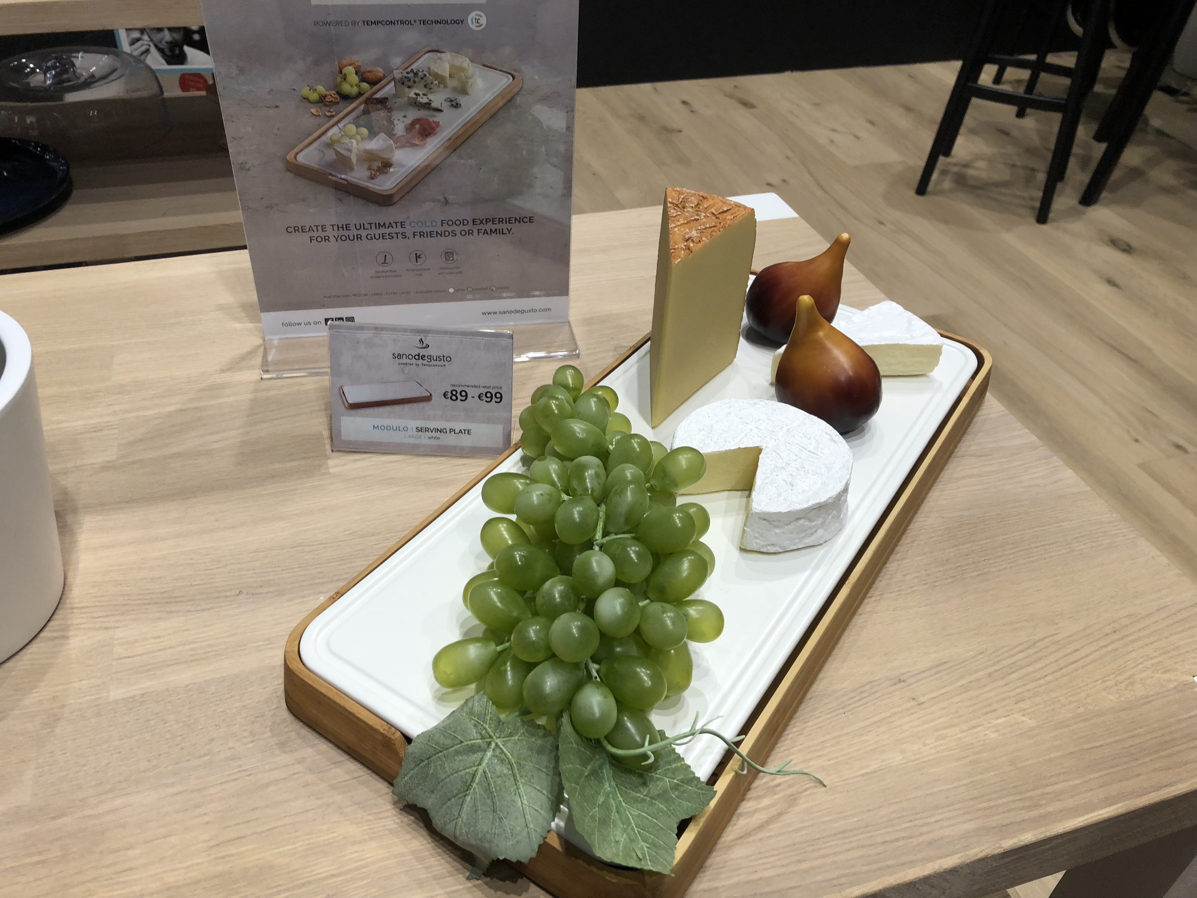 "Temperature controlled dishware and serving pieces are all the rage, including this ""cool"" platter by TempControl of Belgium."