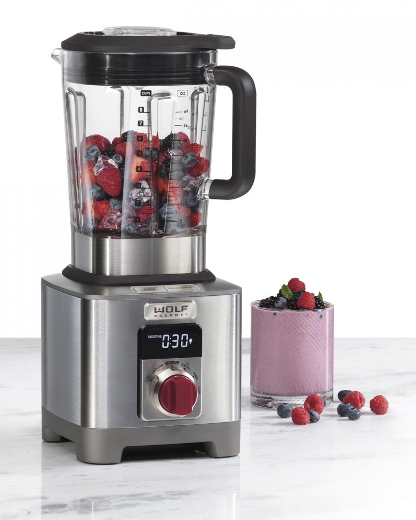 Wolf Gourmet designed the blender so that it is easy to clean and store, deliberately sizing it to fit under most standard kitchen cabinets.