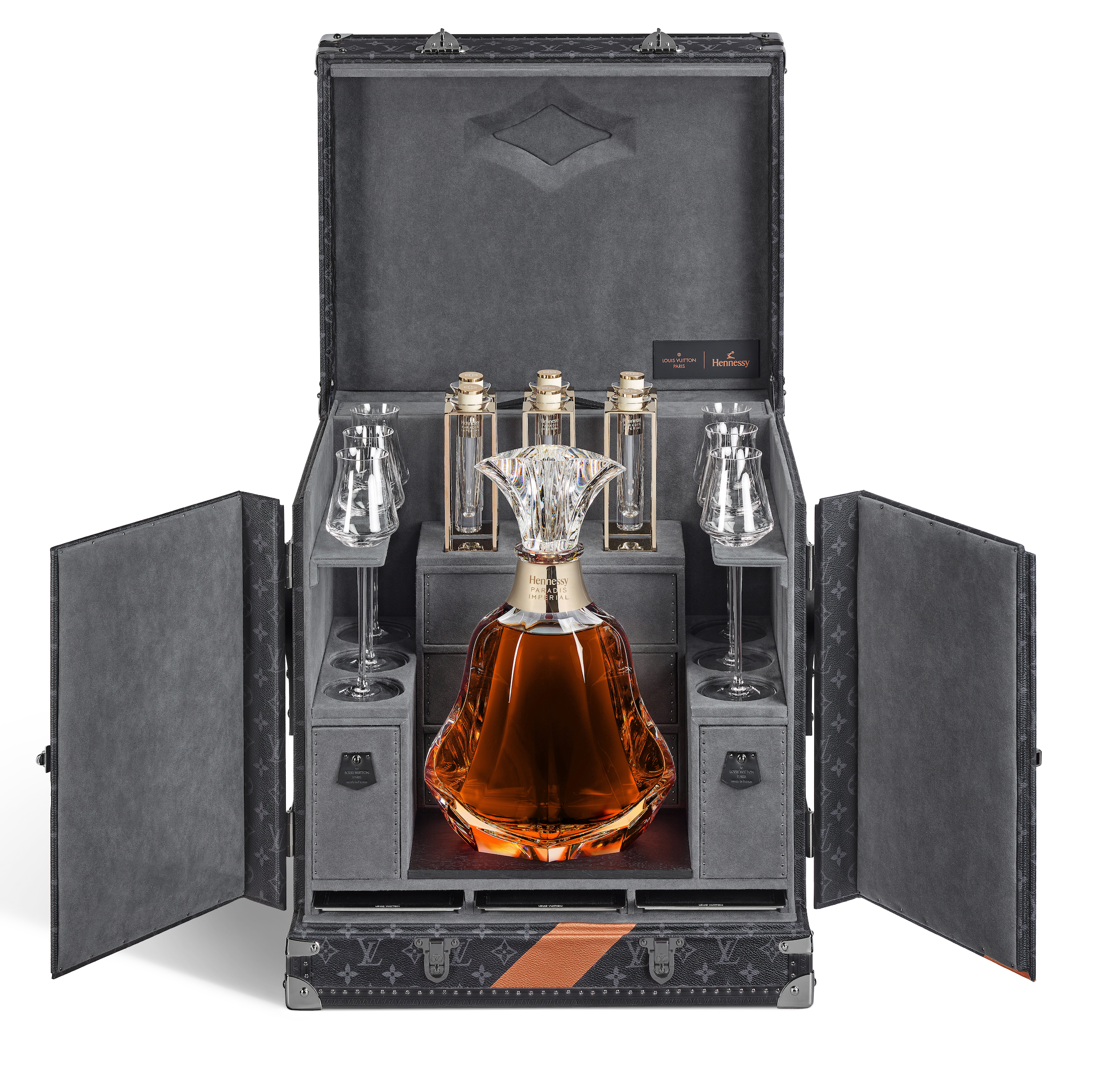 Hennessy Decanter & Louis Vuitton Trunk