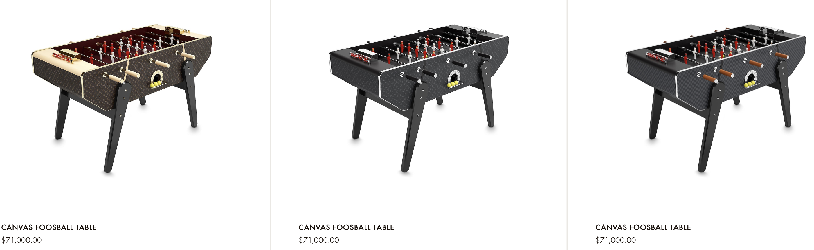 Louis Vuitton Foosball Tables