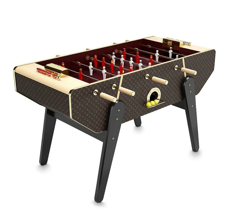 Louis Vuitton canvas foosball table